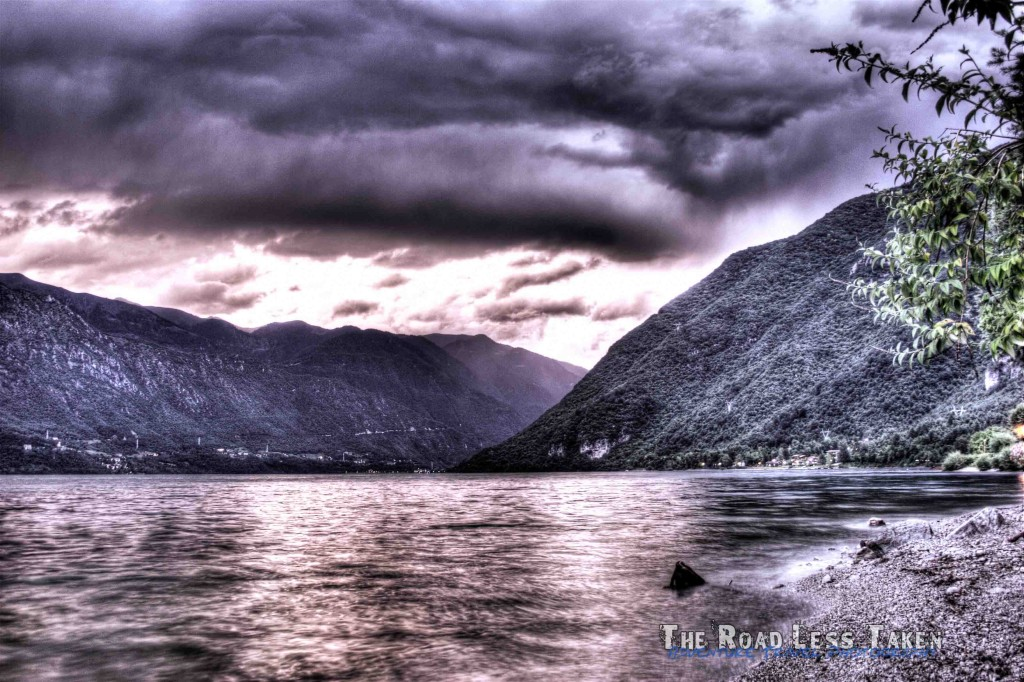 HDR Photography of Lake Idro during a storm